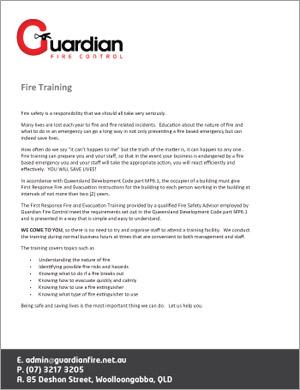 Fire Training Fact Sheet